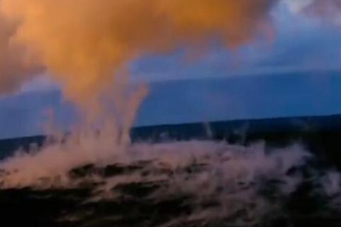 基拉韦厄火山喷发,场面壮观炫丽