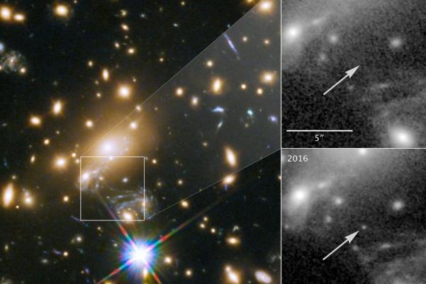 人类首次观测到50亿光年外的恒星