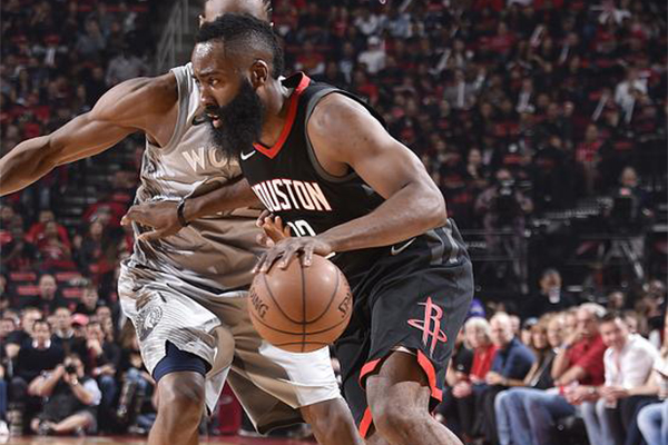 哈登44+8人挡杀人,森林狼,NBA