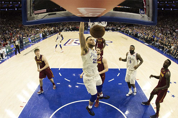 詹皇准三双迎里程碑,骑士,NBA,费城76人